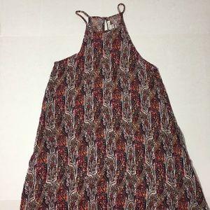 A.E. Dress Paisley Print High Neck w/ pockets